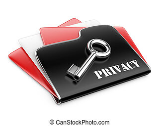 private folder - privacy information concept.