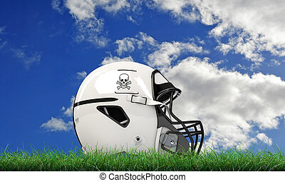 nfl helmet - NFL helmet on green grass