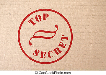 Top Secret - Cardboard with a Top Secret Stamp