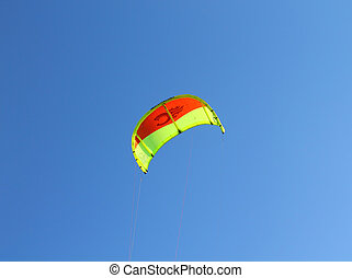 parachute in the sky