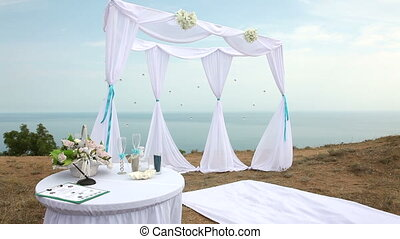 Wedding arch by the sea.
