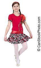 Young beautiful girl - Portrait young beautiful dancer girl...