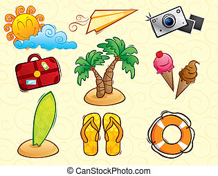 Vacation vector pack collection