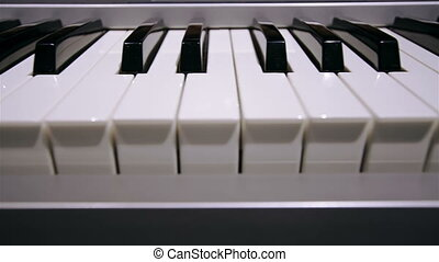 Piano keyboard   - Piano keyboard background in loop