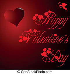 happy valentines day - red background, made u200Bu200Bfor...
