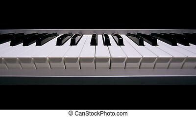 Piano keyboard background in loop
