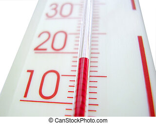 thermometer - Detail of mercury thermometer