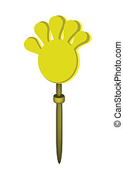 Plastic Hand Clap Toy on White Background - An Illustration...