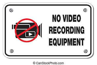 no video recording equipment recta - suitable for warning...
