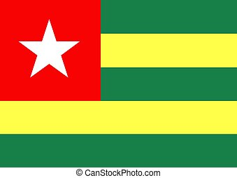 Togo Flag - Illustration of the flag of Togo