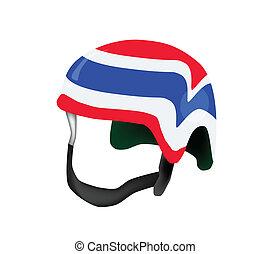 A Helmet of Thai Flag on White Background