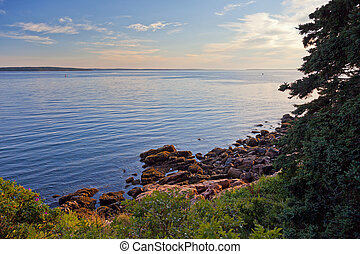 Maine Coast - Coast of Mt. Desert Island, Maine, at sunset