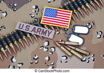 US ARMY concept on camouflage uniform