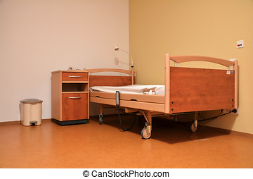 retirement home - empty room in a nursing home