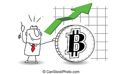 Bitcoin is growing up - fluctuation of the Bit coin up