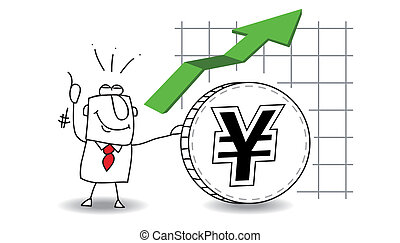 Yen is growing up - fluctuation of the Yen up