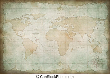 old world map background