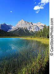 Emerald Lake, Yoho National Park, British Columbia, Canada -...