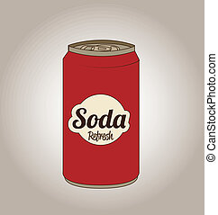 soda design over gray  background  vector illustration