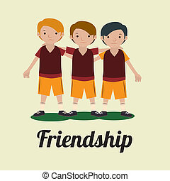 friendship,design  over white background vector illustration