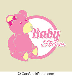baby design over beige background vector illustration