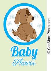 baby design over beige  background vector illustration