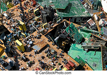 Old circuit boards - Obsolete circuit boards for recycling