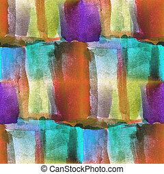 quadro, aquarela, seamless, azul, Cubismo, fundo