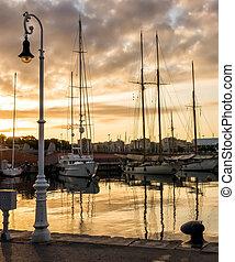 sailboat port