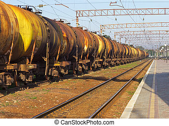 tanks by rail - cargo transportation in tanks by rail