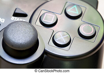 game controller - close-up joy sticks controller are usually...
