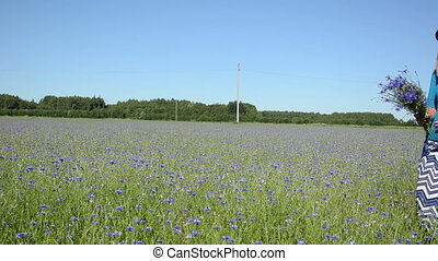 cornflower pick field
