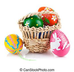 バスケット, 卵, イースター