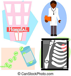 Health care items. - 4 items that can be used for health...