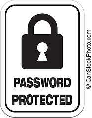 password protected - alert signs