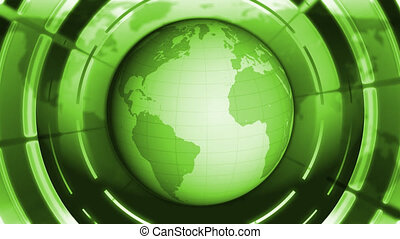 Green World Globe.
