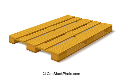 Pallet. - Standard pallet isolated on white background.