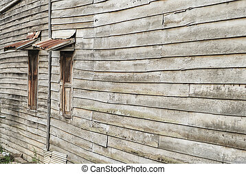 Old country wooden window