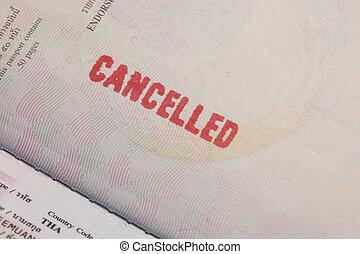 Passport Stamp Cancelled