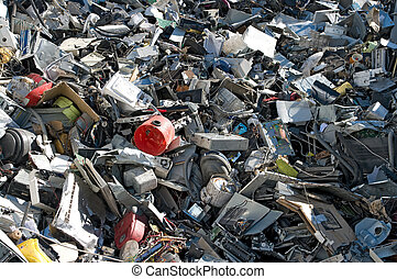 Computer parts pile - A mix of computer parts and junk for...