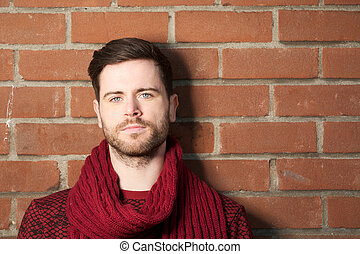 Portrait of an attractive young man with beard