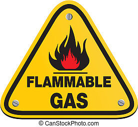 triangle flammable gas sign