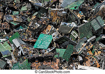 Circuit board pile - Pile of circuit board for recycling