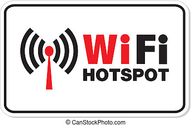 wifi hotspot rectangle signs - suitable for wifi signs