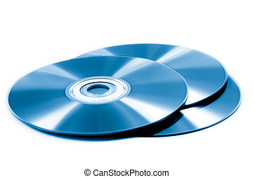 stack of cd roms. CD & DVD disk on white background