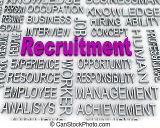 3d imagen about recruitment concept