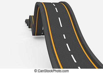 Bumpy road background