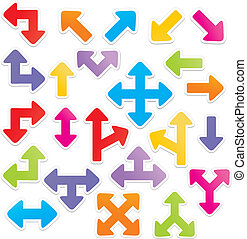 arrow stickers - suitable for user interface