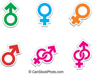 male female stickers