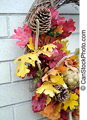 Thanksgiving wreath - A part of Thanksgiving wreath for...